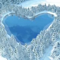 冬のハート池
