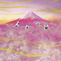 赤富士と桜
