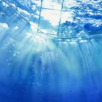 海想~やさしい光、水彩画