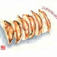 餃子(水彩画)