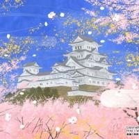 桜の姫路城