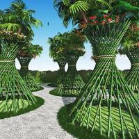 竹花筒トロピカル