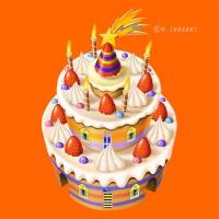 楽しいケーキ