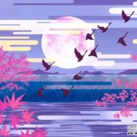 月光の薄紅葉