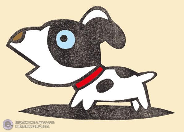 犬の版画 ポチ