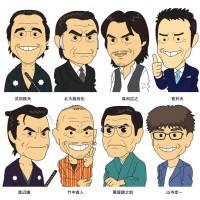 龍馬を演じた俳優達(デフォルメ似顔絵)