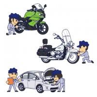 専門学校パンフレット表紙(バイク&整備士)