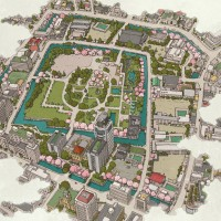 駿府城公園俯瞰図