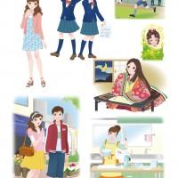 中学生学生参考書用イラスト-2