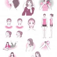 美容健康系イラストサンプル-C
