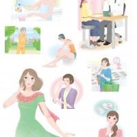 Mook用健康美容系イラスト