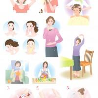 美容健康系イラスト