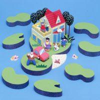 湖水の別荘地