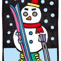 真夜中のスキーヤー