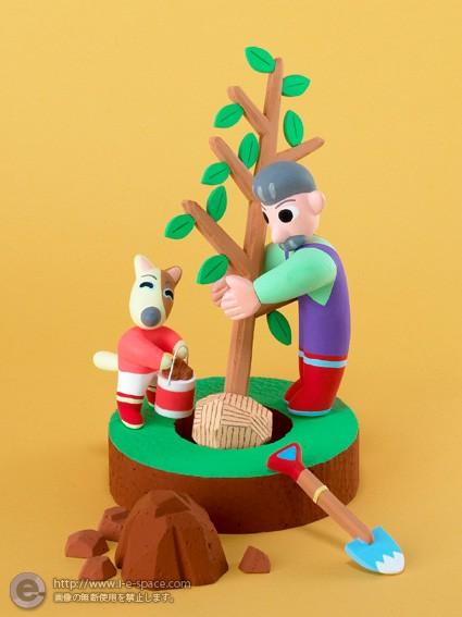 木を植える