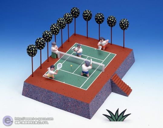 テニスコートで待ち合せ