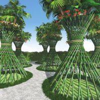 トロピカル竹花筒