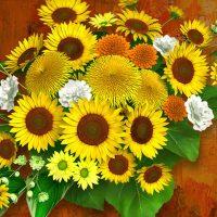花束 向日葵