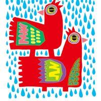 雨の中の見回り