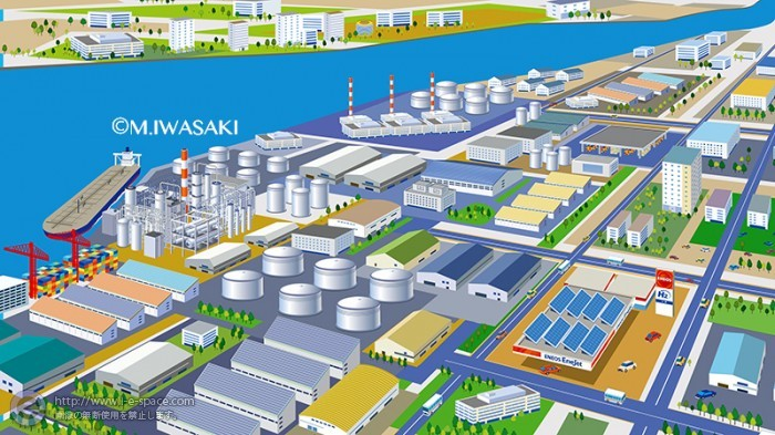 町並み・工業地帯