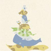 Sea animal tower