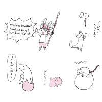 動物たちが、頑張る読者を応援する挿絵 ver1