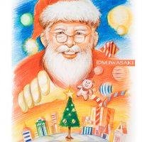 人物画・肖像画・似顔絵・色鉛筆・サンタクロース・クリスマス