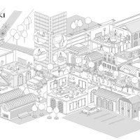 街並イラスト・線画