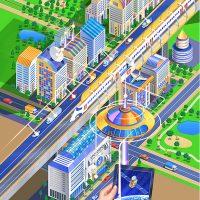 街並イラスト・未来都市