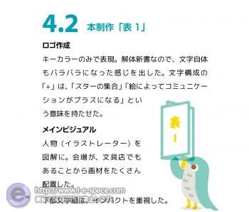 """制作例 """"展覧会のDM"""" 4.2"""