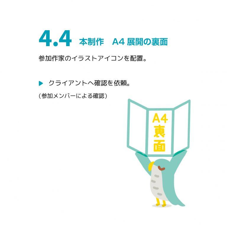 """制作例 """"展覧会のDM"""" 4.4"""
