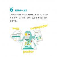 """制作例 """"展覧会のDM"""" 6"""