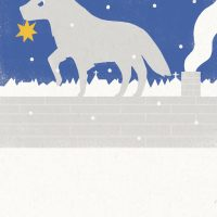 """Christmas Greeting Card 2008"" Wolf"