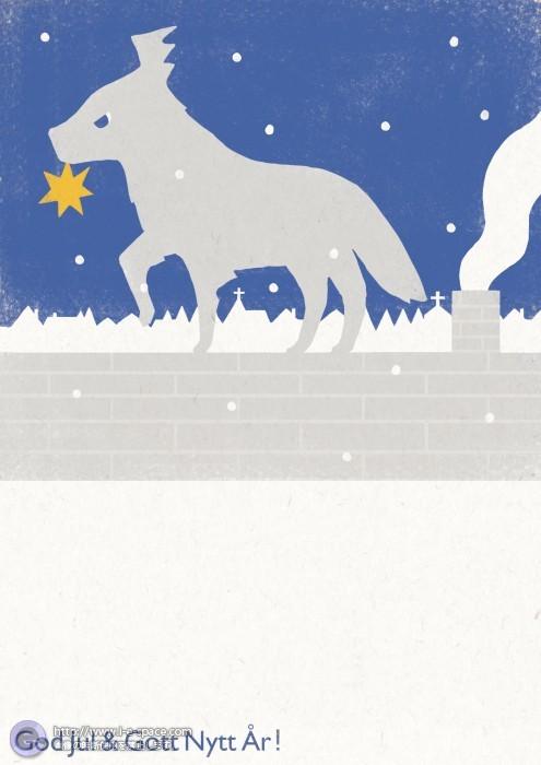 """Christmas Greeting Card 2008"" Wolf"