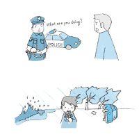 """""""かんたん英語日記"""" 挿絵14"""