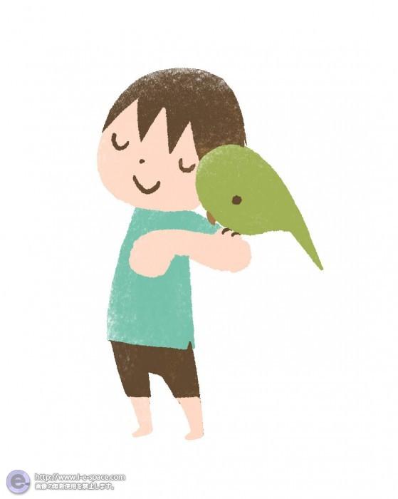 Boy and Parakeet 2
