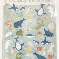 """ポストカード型シール asamidori """"OCEAN FRIENDS"""""""