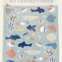 """ポストカード型シール asamidori """"MY FRIEND FISHES"""""""