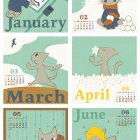 卓上カレンダー 2010年 01-06月