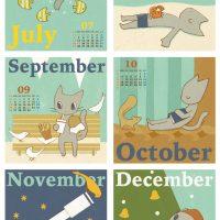 卓上カレンダー 2010年 07-12月