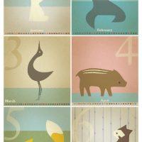 卓上カレンダー 2011年 01-06月